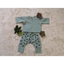 Set Babies aus Jersey hellgrün
