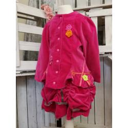 Kostüm aus Samt in Pink Unikat