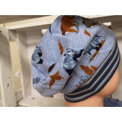Beanie Mütze Blau meliert...